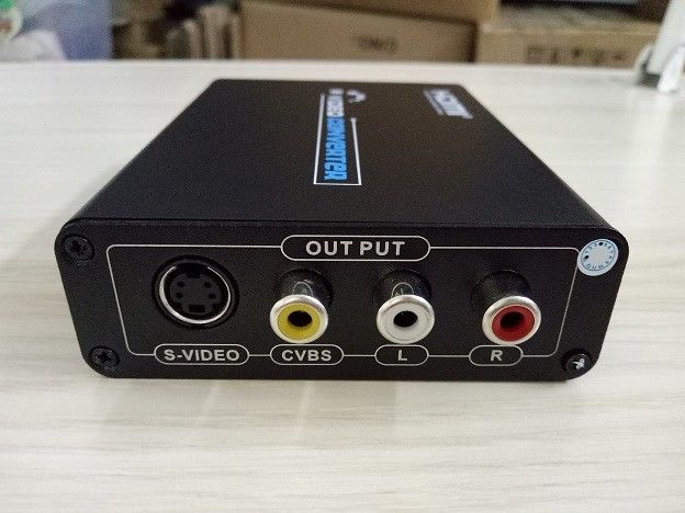 HDMI to Composite / S-Video Converter with L/R Stereo Audio output Fiber Optic Transceiver